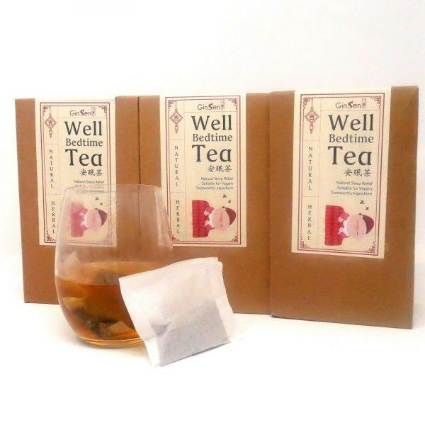 Well Bedtime Tea by GinSen Bedtime Herbal Tea
