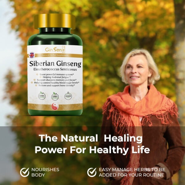 Siberian Ginseng Supplements Eleutherococcus Senticosus by GinSen