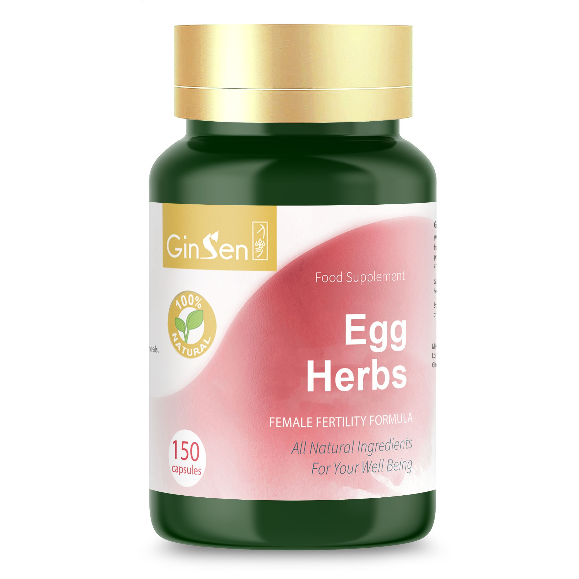 Egg Herbs by GinSen Supplements For Egg Quality