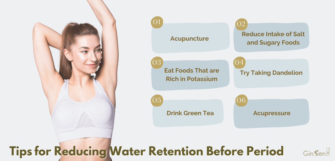 water retention before period